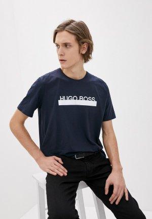 Футболка домашняя Boss Identity T-Shirt RN. Цвет: синий