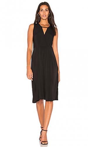 Драпированное мини платье BCBGeneration. Цвет: черный
