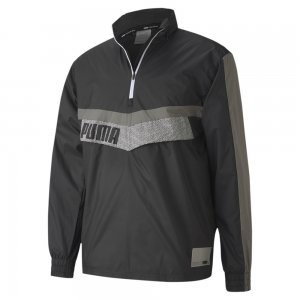 Ветровка Train Woven 1/2 Zip Jacket PUMA. Цвет: черный