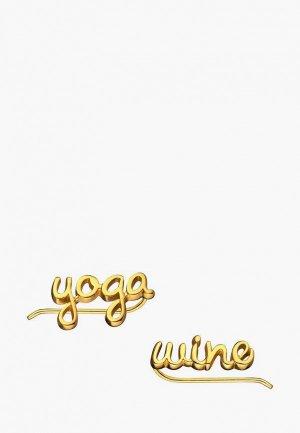 Каффы Wanna?Be! Yoga / wine. Цвет: золотой