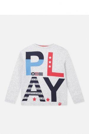 Лонгслив PlayToday. Цвет: серый