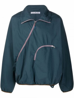Легкая куртка на молнии Acne Studios. Цвет: синий