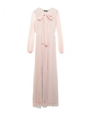 Длинное платье MANGANO. Цвет: светло-розовый