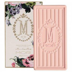 Рифленое кусковое мыло в коробочке «Маршмэллоу» Boxed Triple Milled Marshmallow Soap 180 г MOR
