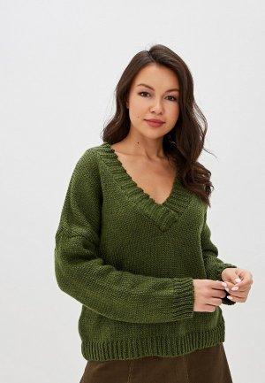 Пуловер Vera Moni. Цвет: хаки