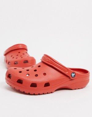 Красные клоги -Красный Crocs