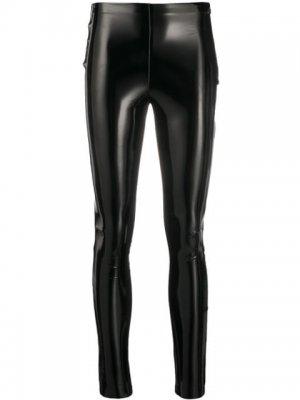 Лакированные легинсы STUDIO KL Karl Lagerfeld. Цвет: черный