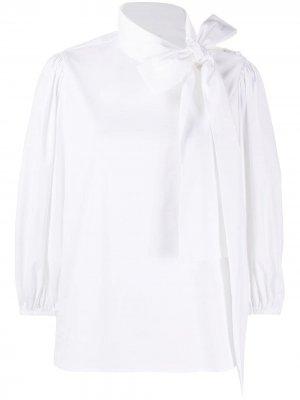 Поплиновая рубашка с объемными рукавами RedValentino. Цвет: белый