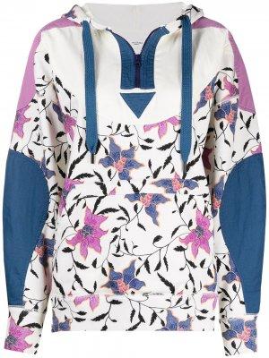 Пуловер с цветочным принтом и капюшоном Isabel Marant Étoile. Цвет: нейтральные цвета
