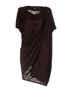 Короткое платье VIVIENNE WESTWOOD ANGLOMANIA. Цвет: баклажанный