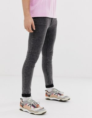 Черные супероблегающие джинсы -Черный Cheap Monday