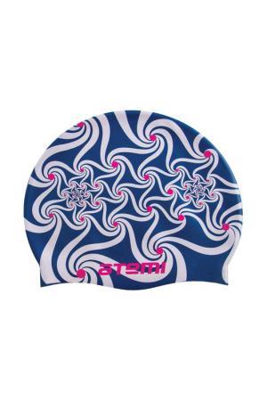 Шапочка для плавания Atemi. Цвет: синий