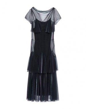 Длинное платье MAISON MARGIELA. Цвет: темно-синий