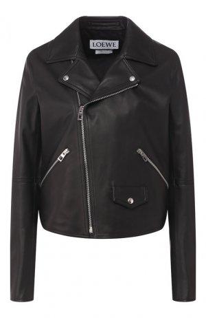 Кожаная куртка Loewe. Цвет: черный