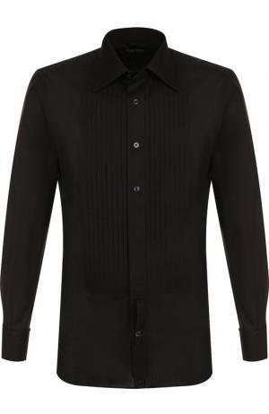 Хлопковая сорочка под смокинг Tom Ford. Цвет: чёрный