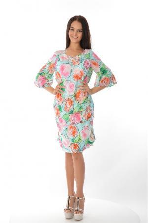 Платье CLIPS. Цвет: разноцветный