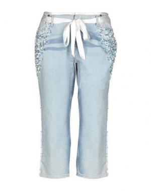 Джинсовые брюки-капри LAFTY LIE. Цвет: синий