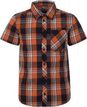 Рубашка с коротким рукавом для мальчиков , размер 128 Outventure. Цвет: оранжевый