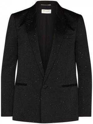 Однобортный пиджак Saint Laurent. Цвет: черный
