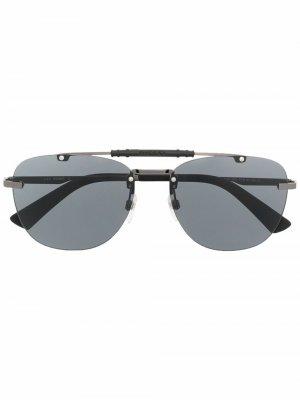 Солнцезащитные очки-авиаторы Diesel. Цвет: черный
