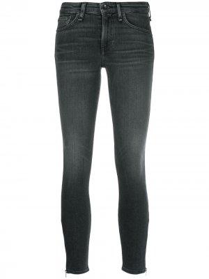 Укороченные джинсы скинни Rag & Bone. Цвет: серый