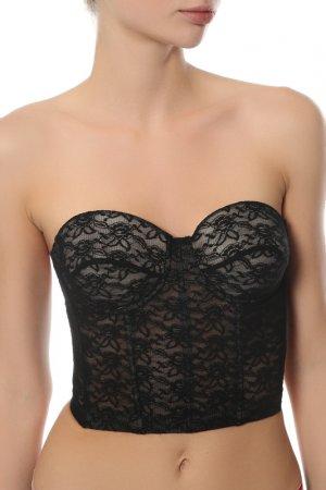 Блуза-топ Moschino Underwear. Цвет: черный
