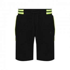 Хлопковые шорты Philipp Plein. Цвет: чёрный