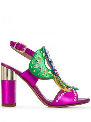 Туфли-лодочки с декором Albano. Цвет: розовый