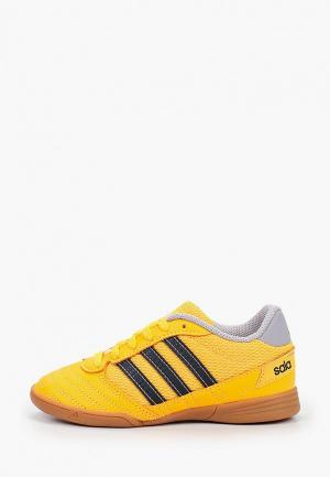 Бутсы зальные adidas. Цвет: оранжевый