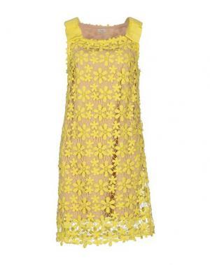 Короткое платье INTROPIA. Цвет: желтый