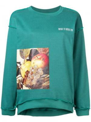 Caravaggio print sweatshirt Au Jour Le. Цвет: зеленый