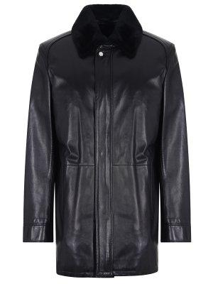 Куртка кожаная с мехом бобра MASSIMO SFORZA