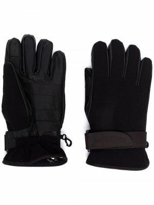 Перчатки с нашивкой-логотипом Moncler Grenoble. Цвет: черный