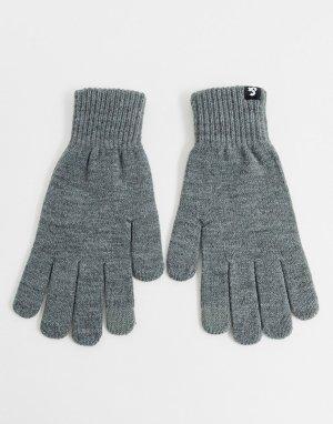 Серые перчатки для сенсорных устройств -Серый Jack & Jones