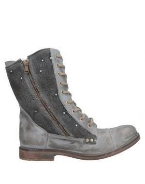 Полусапоги и высокие ботинки ALBERTO BRESSAN. Цвет: серый