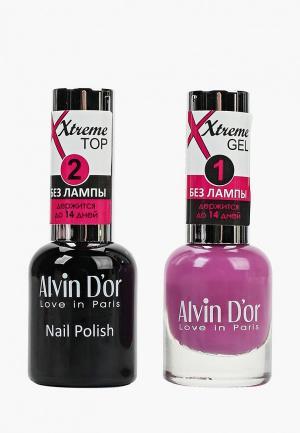 Набор гель-лаков Alvin Dor D'or Гель Xtreme extreme (Лак+Top) 2х15мл.5246 тон MIX 46. Цвет: прозрачный