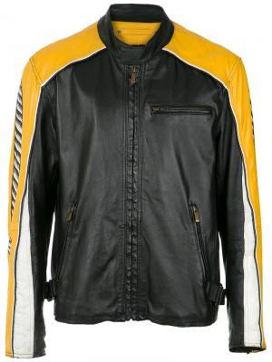Hand-painted biker jacket À La Garçonne. Цвет: черный