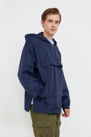 Непромокаемый анорак с капюшоном Finn-Flare. Цвет: темно-синий