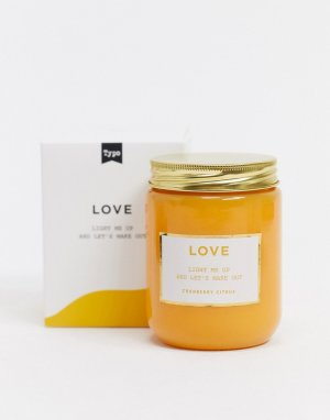 Свеча со слоганом Love Typo-Желтый TYPO
