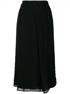 Pleated wrap skirt Carven. Цвет: черный