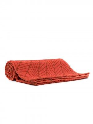 Пляжное полотенце с абстрактным принтом Amir Slama. Цвет: оранжевый