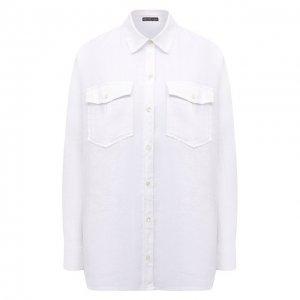 Льняная рубашка James Perse. Цвет: белый