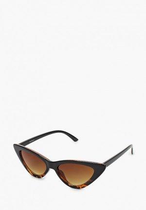 Очки солнцезащитные WOW Miami. Цвет: коричневый