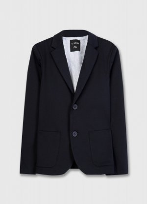 Пиджак для мальчиков O`Stin. Цвет: черно-синий