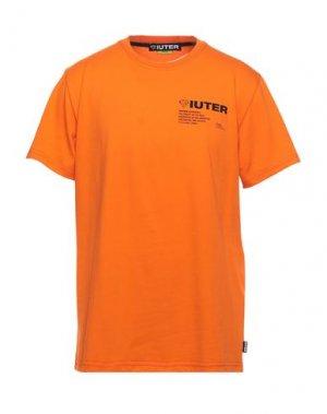 Футболка IUTER. Цвет: оранжевый