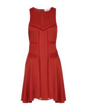 Короткое платье A.L.C.. Цвет: кирпично-красный