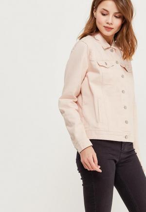 Куртка джинсовая Vila VI004EWZWL97. Цвет: розовый
