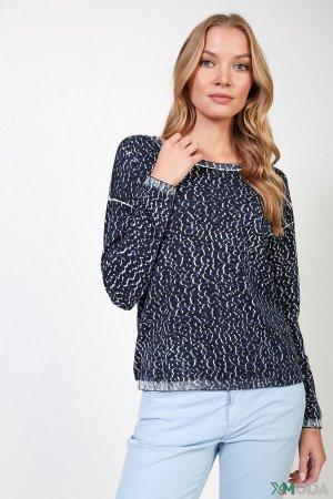 Пуловер Comma. Цвет: синий