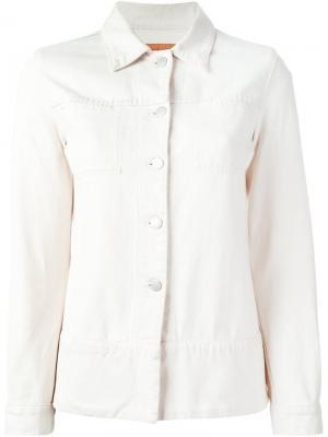 Джинсовая куртка Helmut Lang Vintage. Цвет: белый
