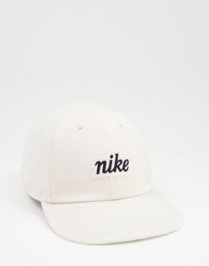 Кремовая кепка с вышитым логотипом H86 Heritage-Белый Nike